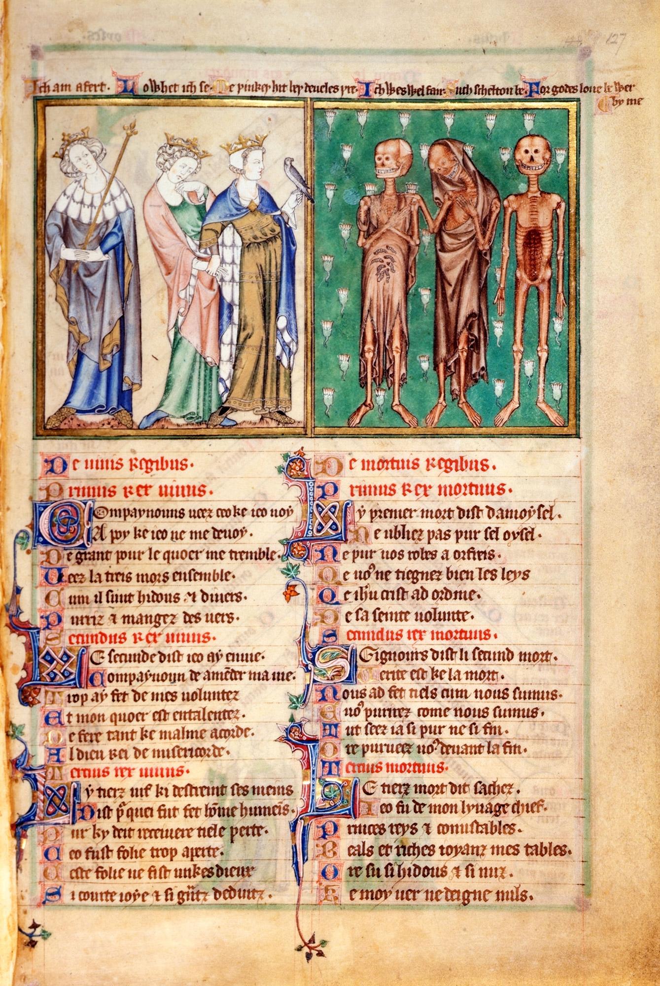 DeLisle Psalter, ca. 1310-20 (British Library, Arundel MS 83 II, f. 127)