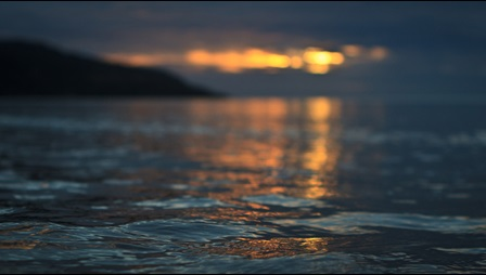 Photograph taken at Totland Bay at sunset