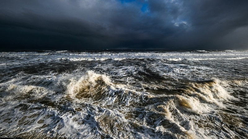 Photograph of a stormy sea
