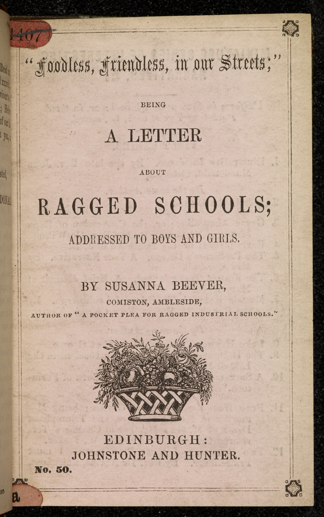 A letter about Ragged Schools