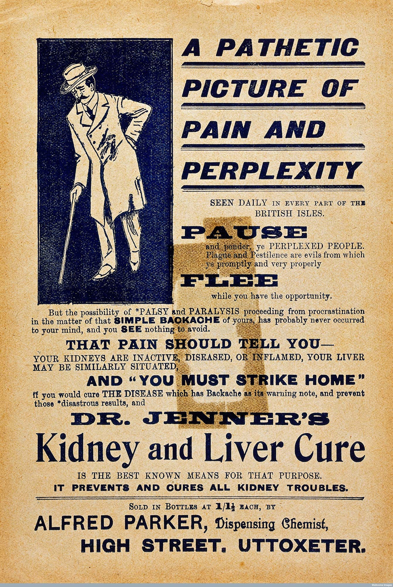 Advertisement for Dr Jenner's Cure