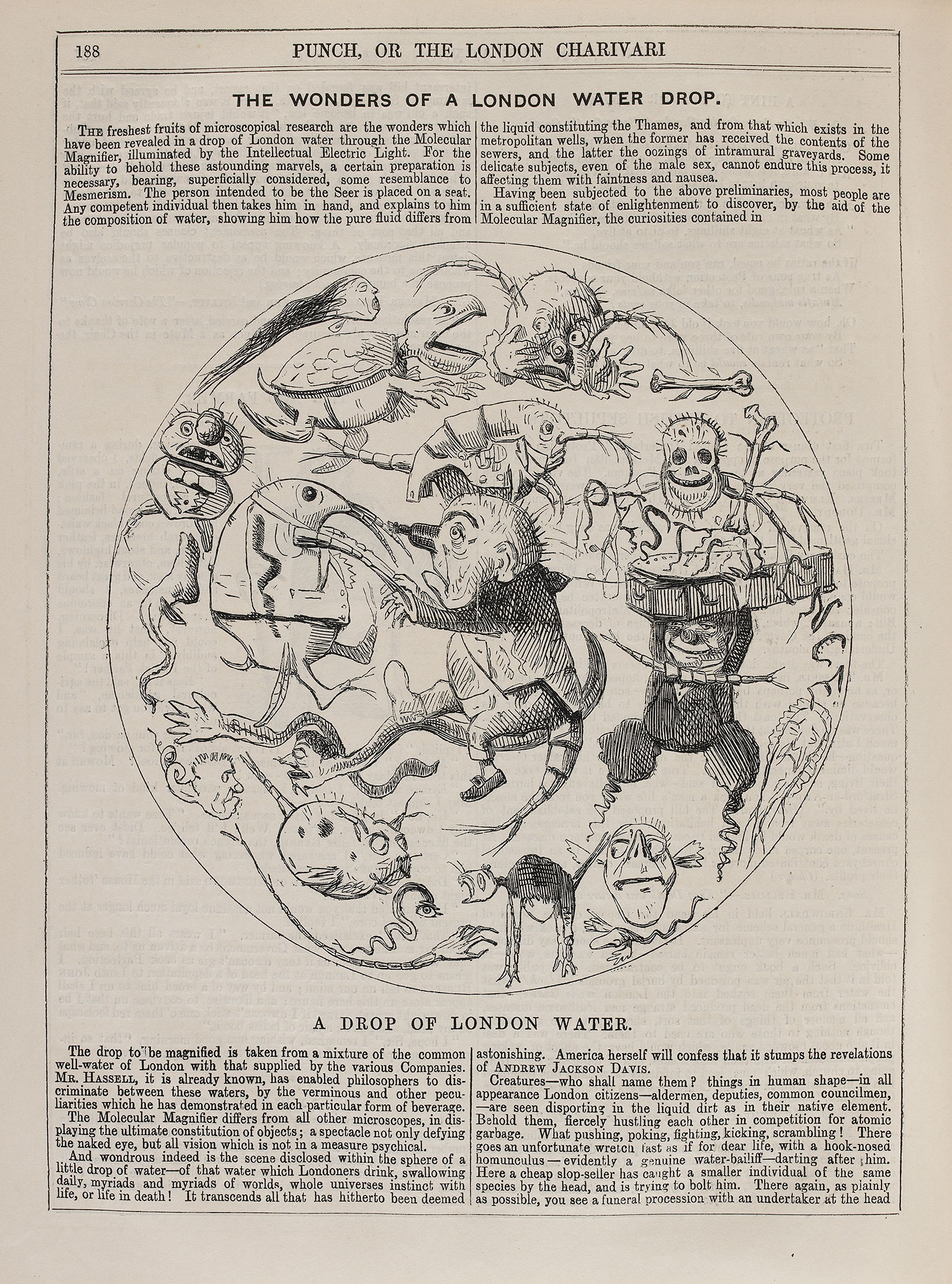 'The Wonders of a London Water Drop' from Punch