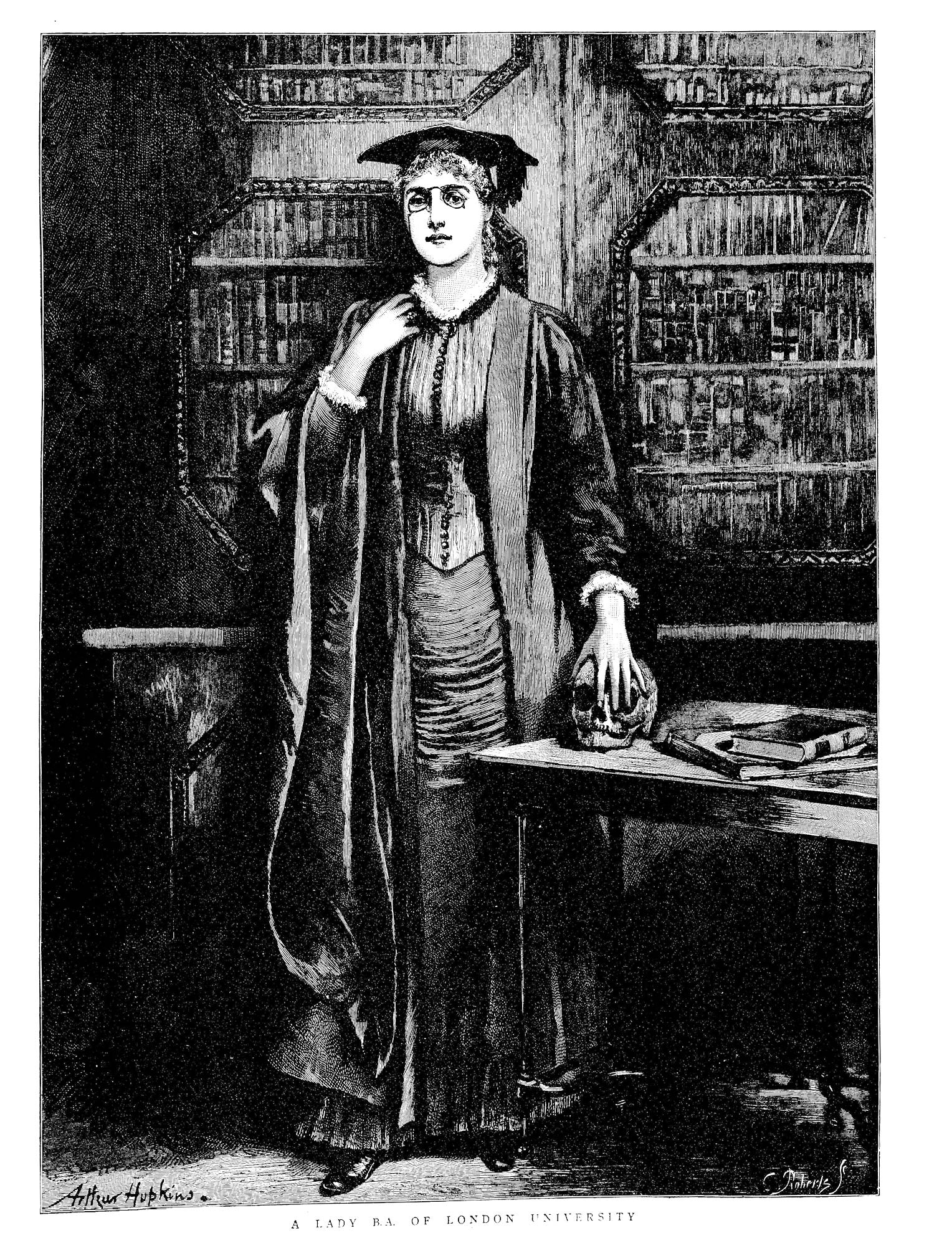 Picture of a female graduate of London University from the Graphic