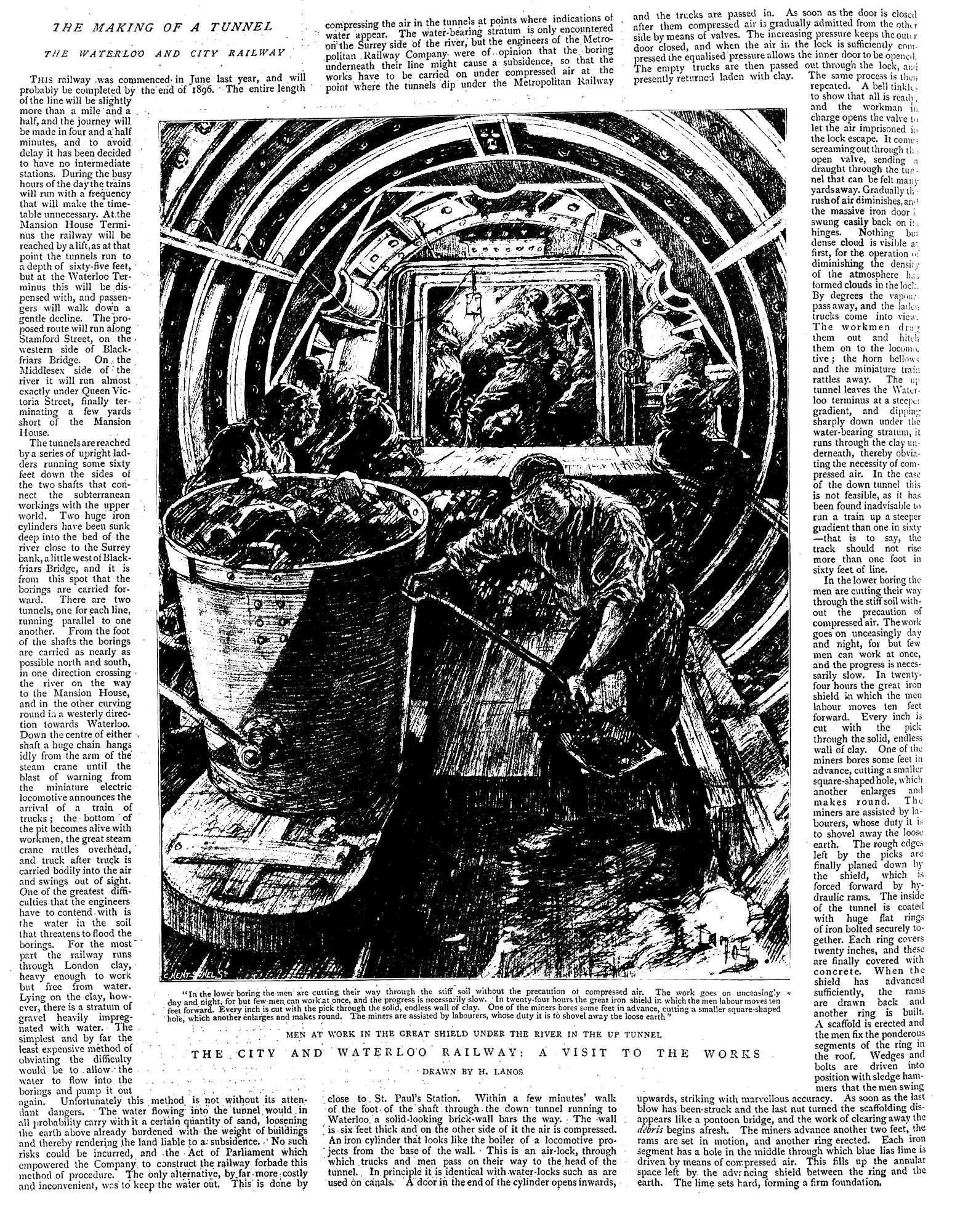 Constructing the Waterloo and City Line the Graphic 16 November 1895