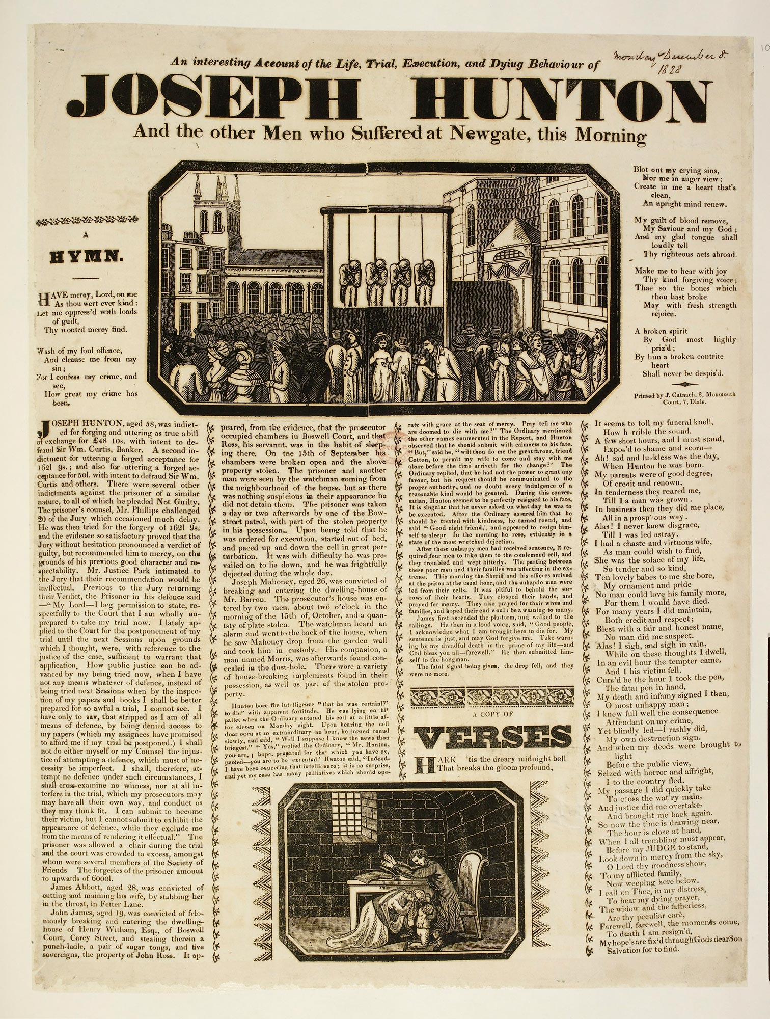 Broadside: The Life, Trial, Execution and Dying Behaviour of Joseph Hunton