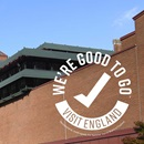 British Library building and Good to Go logo