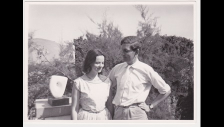 Alan Bowness and Sarah Bowness, 1958, Trewyn Studio garden, St Ives, Cornwall.