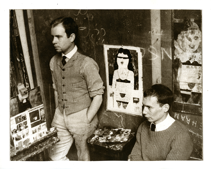 Peter Blake and Richard Smith (right), as Royal College of Art students c. 1956, photographed by Robert Buhler.