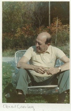 Clement Greenberg, Bennington, Vermont, America. Courtesy Collection Kasmin.