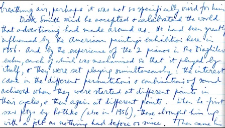 Section from Richard Morphet's Diary, 19 November 1962.