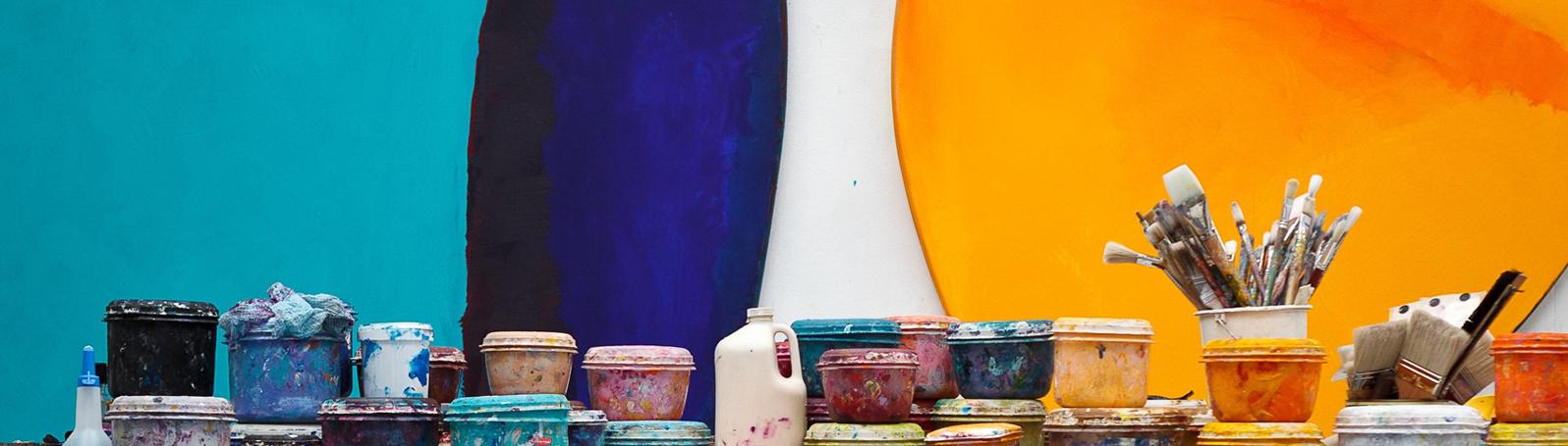 Materials, studio of Trevor Bell. Photograph © Steve Tanner.