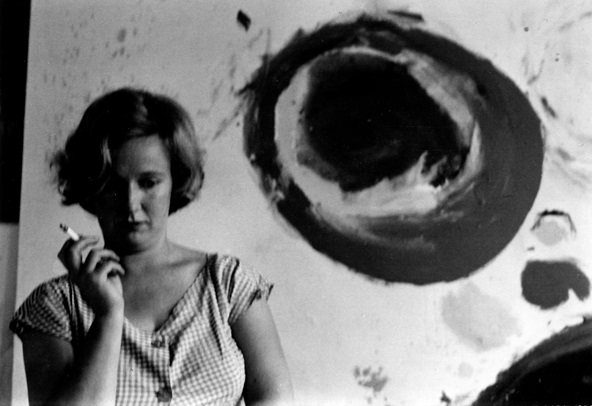 Gillian Ayres, photographed by Roger Mayne.