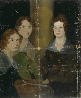 The Brontë Sisters (Anne Brontë; Emily Brontë; Charlotte Brontë) by Patrick Branwell Brontë, oil on canvas, circa 1834. 35 1/2 in. x 29 3/8 in. (902 mm x 746 mm). Purchased, 1914. Primary Collection, NPG 1725. © National Portrait Gallery, London. Image not licensed for reuse.