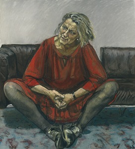 Germaine Greer by Paula Rego, pastel on paper laid on aluminium, 1995. 47 1/4 in. x 43 3/4 in. (1200 mm x 1111 mm). Commissioned, 1995. Primary Collection NPG 6351. © National Portrait Gallery, London. Image not licensed for reuse.