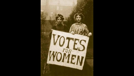 Photograph of Annie Kenney and Christabel Pankhurst