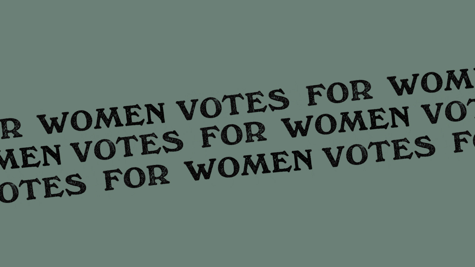 Homepage banner reading 'Votes for Women'