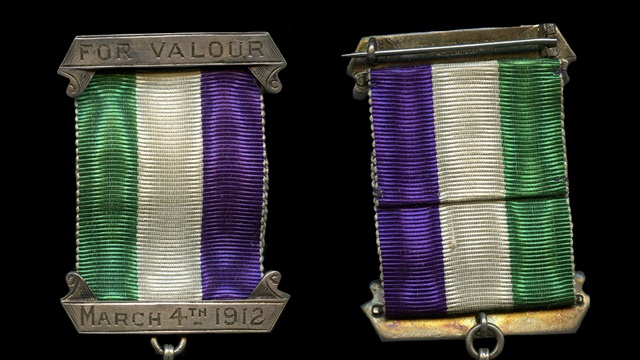 Crop of WSPU medals