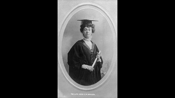 Photo of Emily Davison on her graduation dat