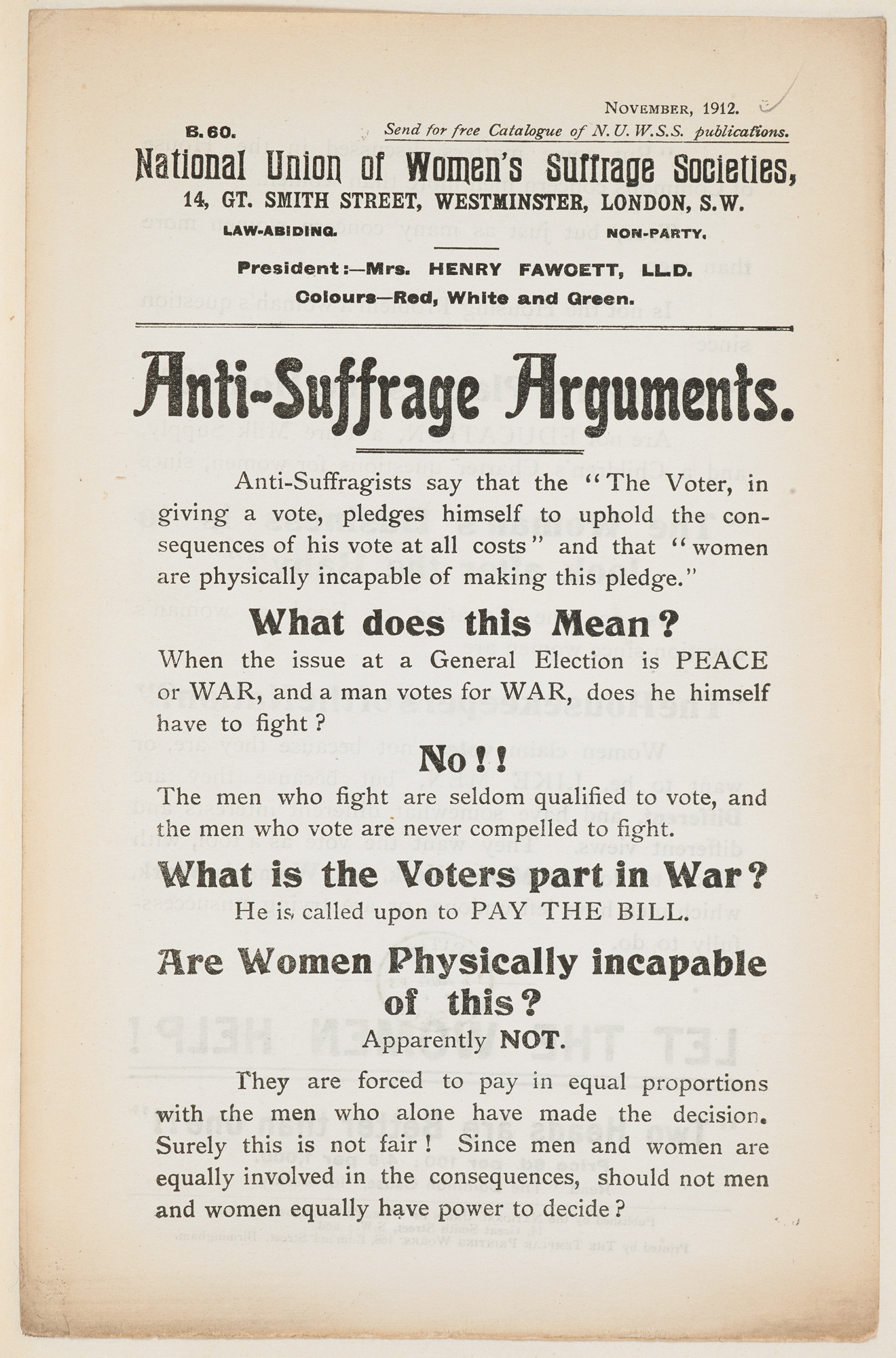 Anti Suffrage Arguments