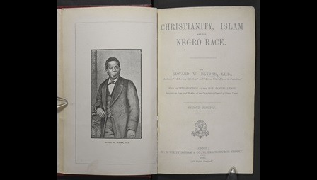 Portrait of Edward Blyden in the book Christianity, Islam and the Negro race