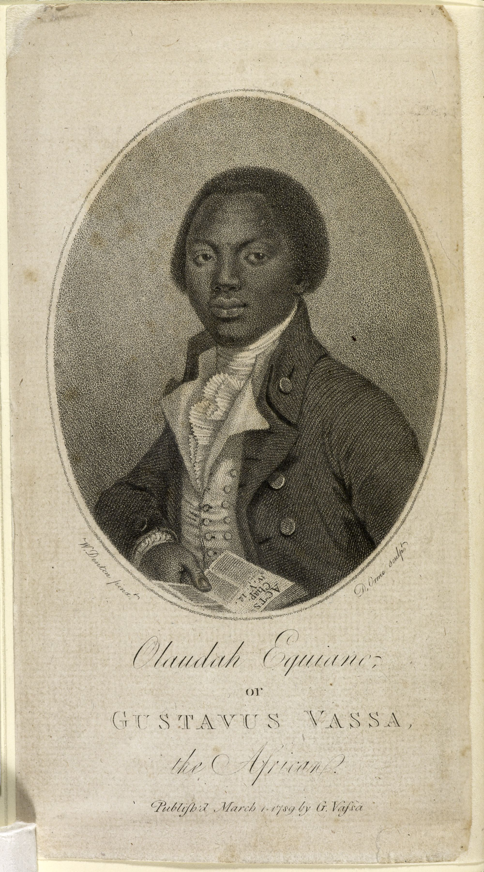 Frontispiece of Olaudah Equiano, The interesting narrative of the life of O. Equiano, or G. Vassa, the African ... written by himself