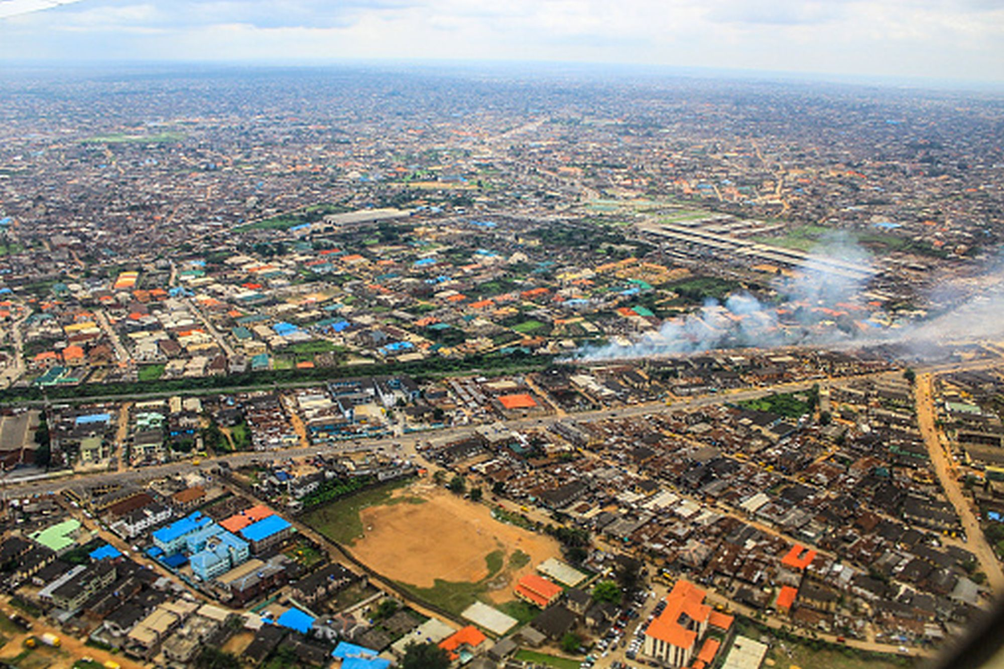 aerial view of modern day lagos nigeria the british library