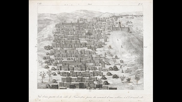 This Atlas of engravings of the city of Timbuktu and other scenes from the travels of René Caillié was published in 1830.