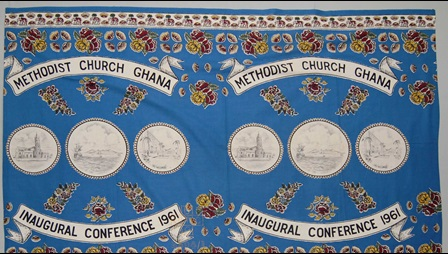 Ghanaian Methodist Church, skirt, blouse, British Museum, cloth, printed, West Africa, word, symbol, song