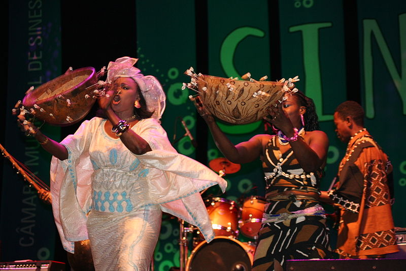 Oumou Sangaré, the international singing star from Mali, at FMM music festival in Sines, Portugal 2007