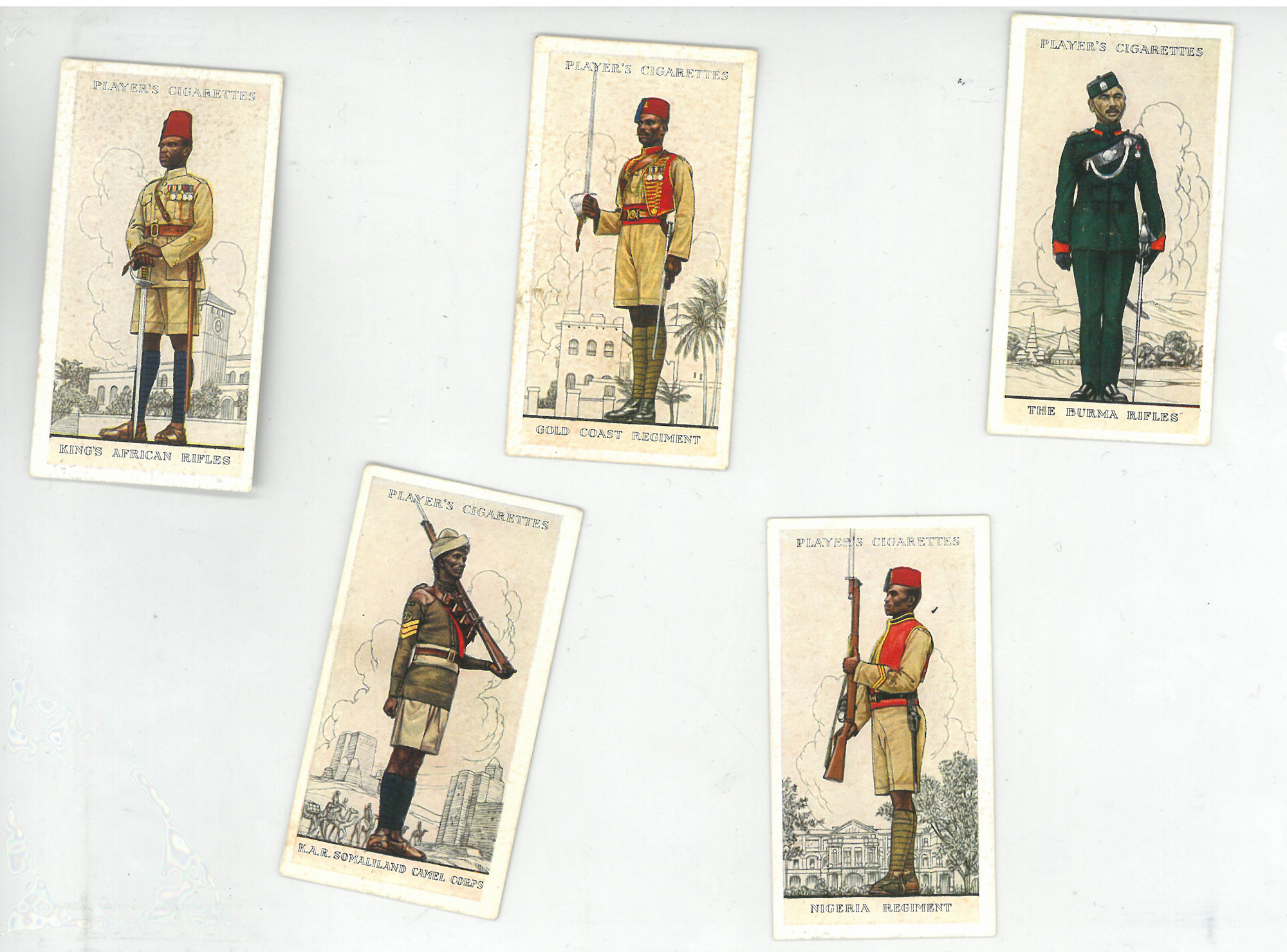 Players Cigarette cards. 'Military Uniforms of the British Empire Overseas'