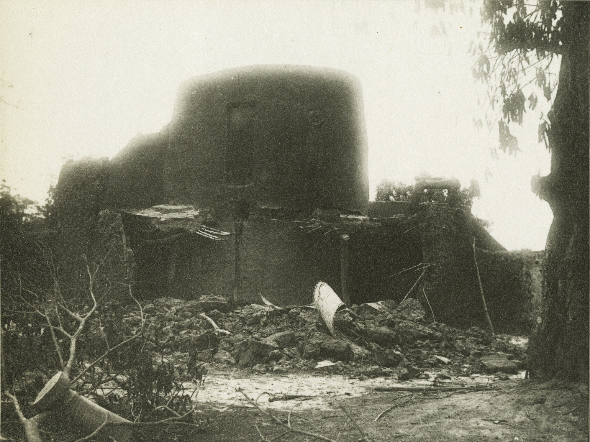 Burned village photograph from Foulkes Album