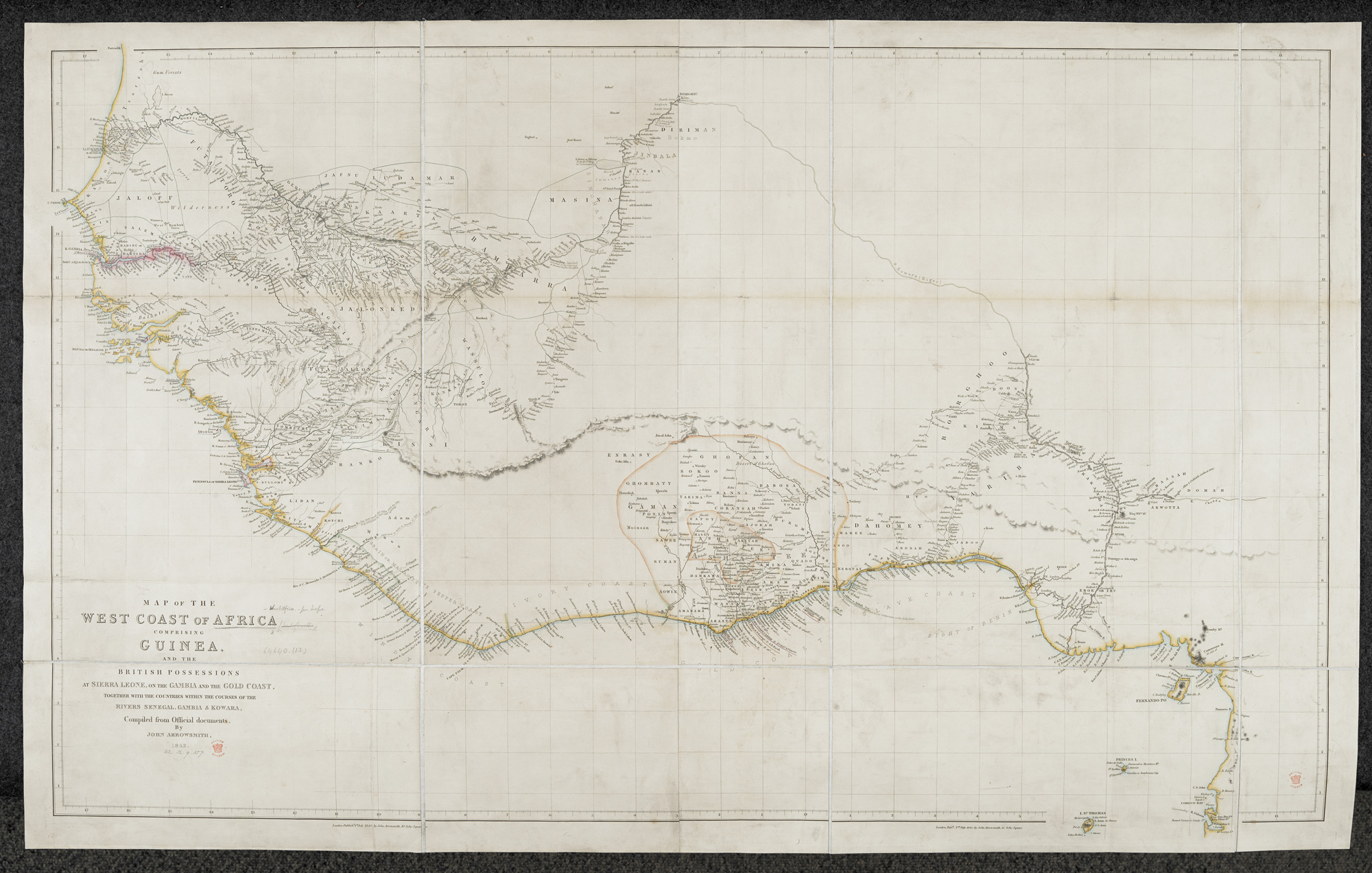 Map Of The West Coast Of Africa 1842 The British Library