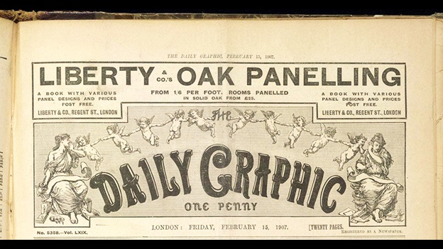 Daily Graphic front cover from February 15, 1907