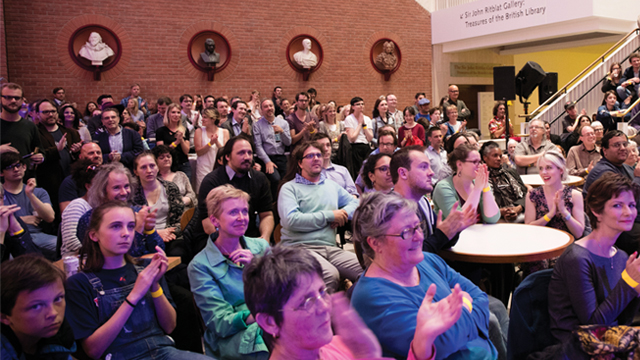 Audience at British Library event