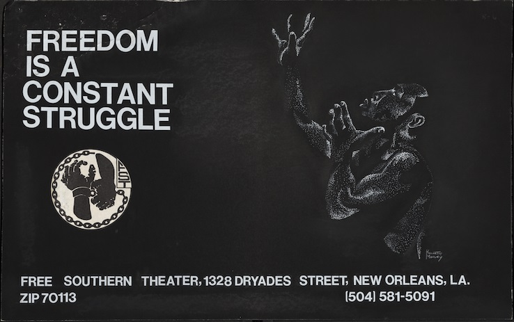 Free Southern Theatre publicity image, circa 1970.