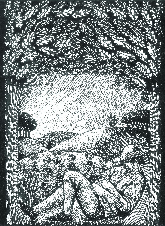 Engraving by Harry Brockway