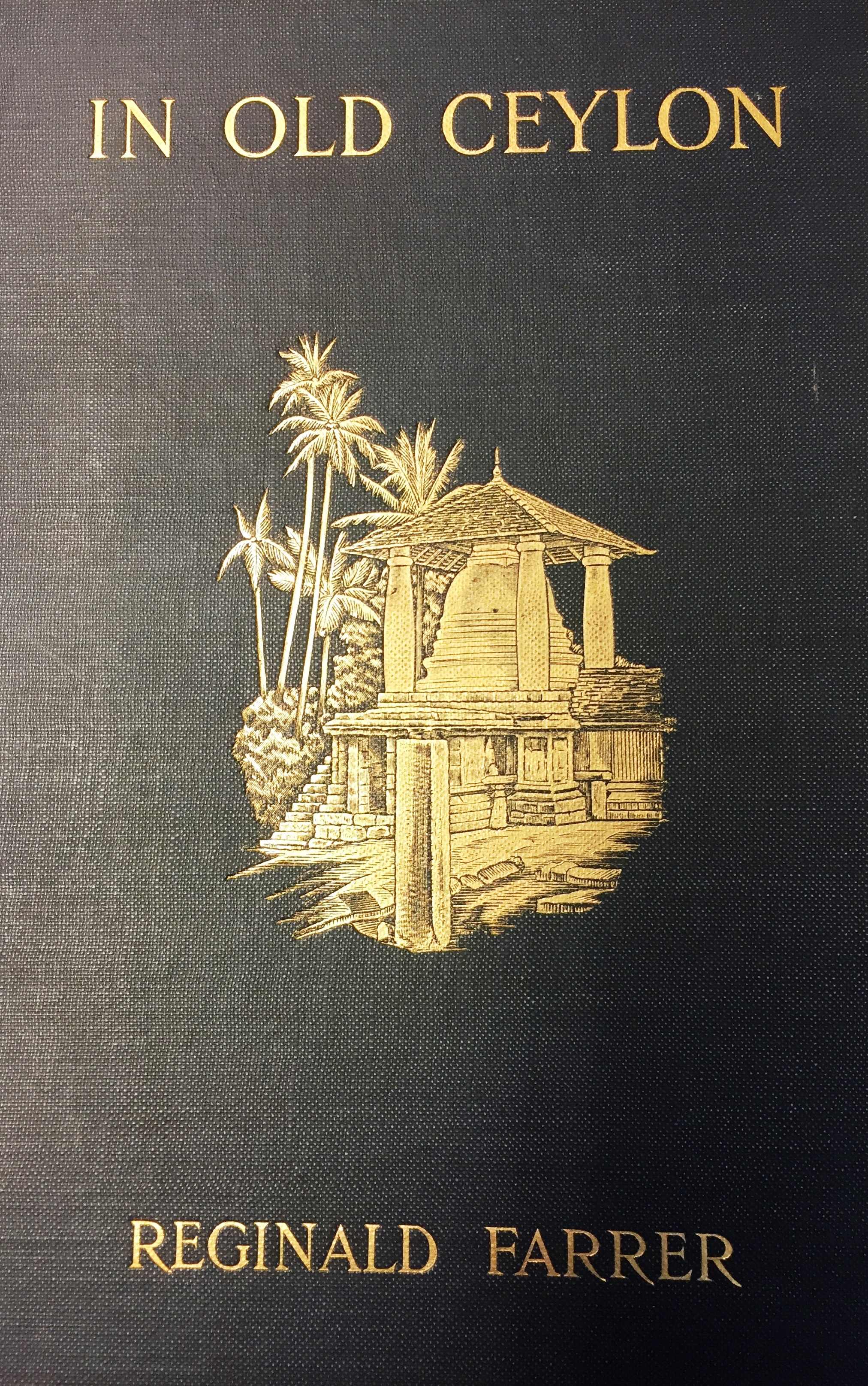 Front cover of 'In Old Ceylon' (1908, British Library, 010058.f.9)