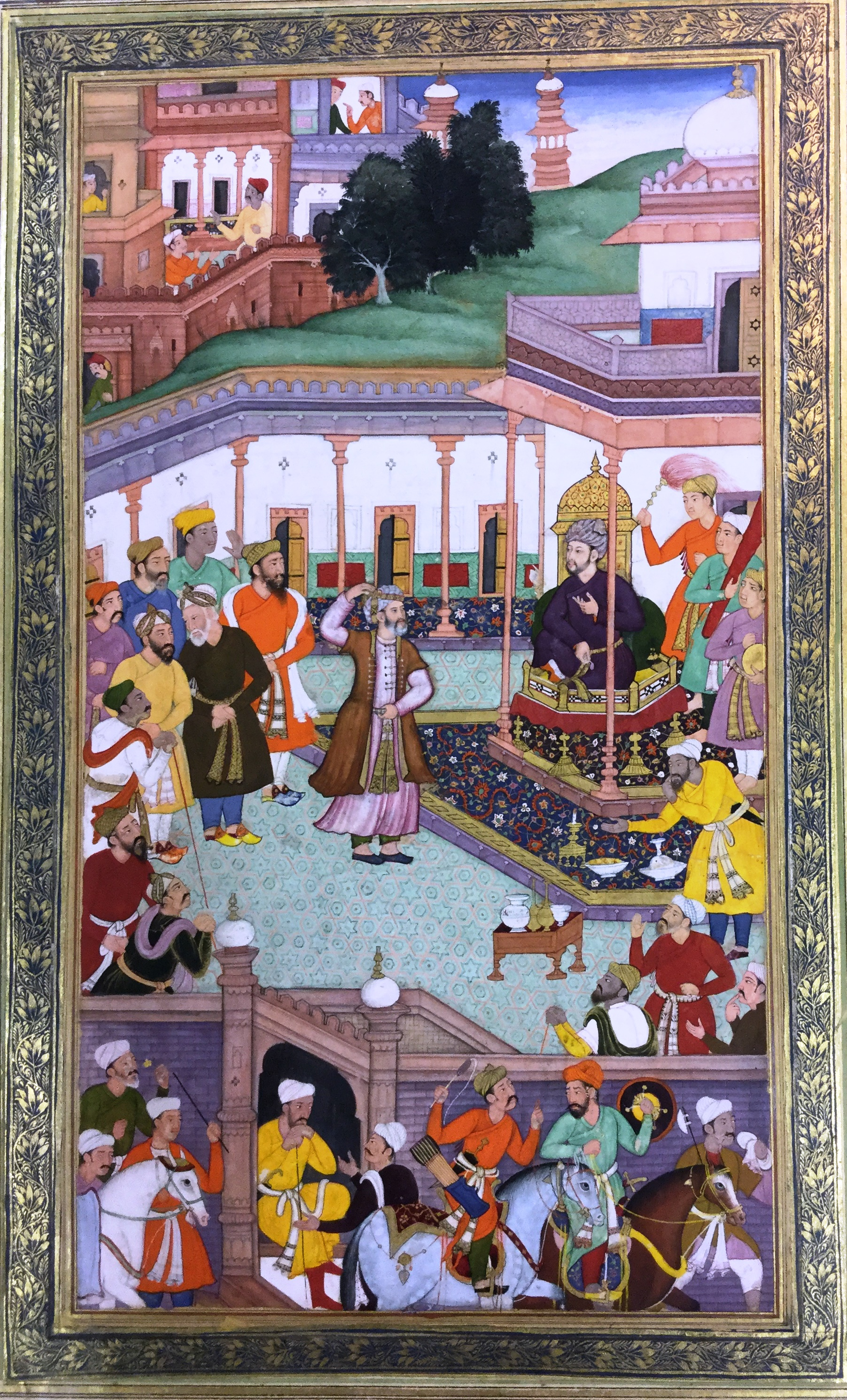 Babur greets courtiers at the Id Festival (1595, British Library, Johnson 2, 12)