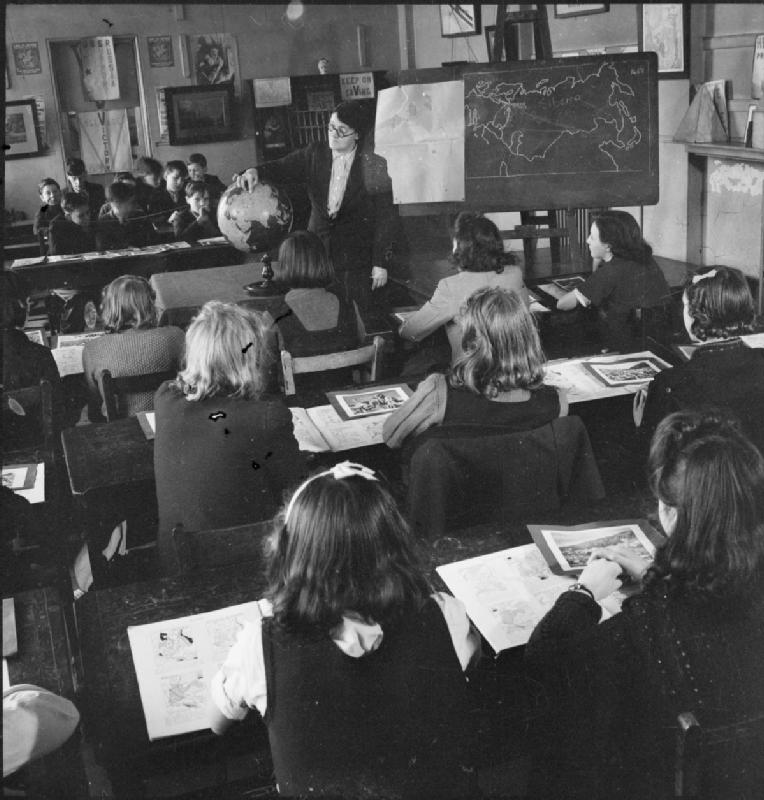 War Comes To School- Life at Peckham Central School, London, England, 1943, Ministry of Information Second World War Official Collection (Imperial War Museum)