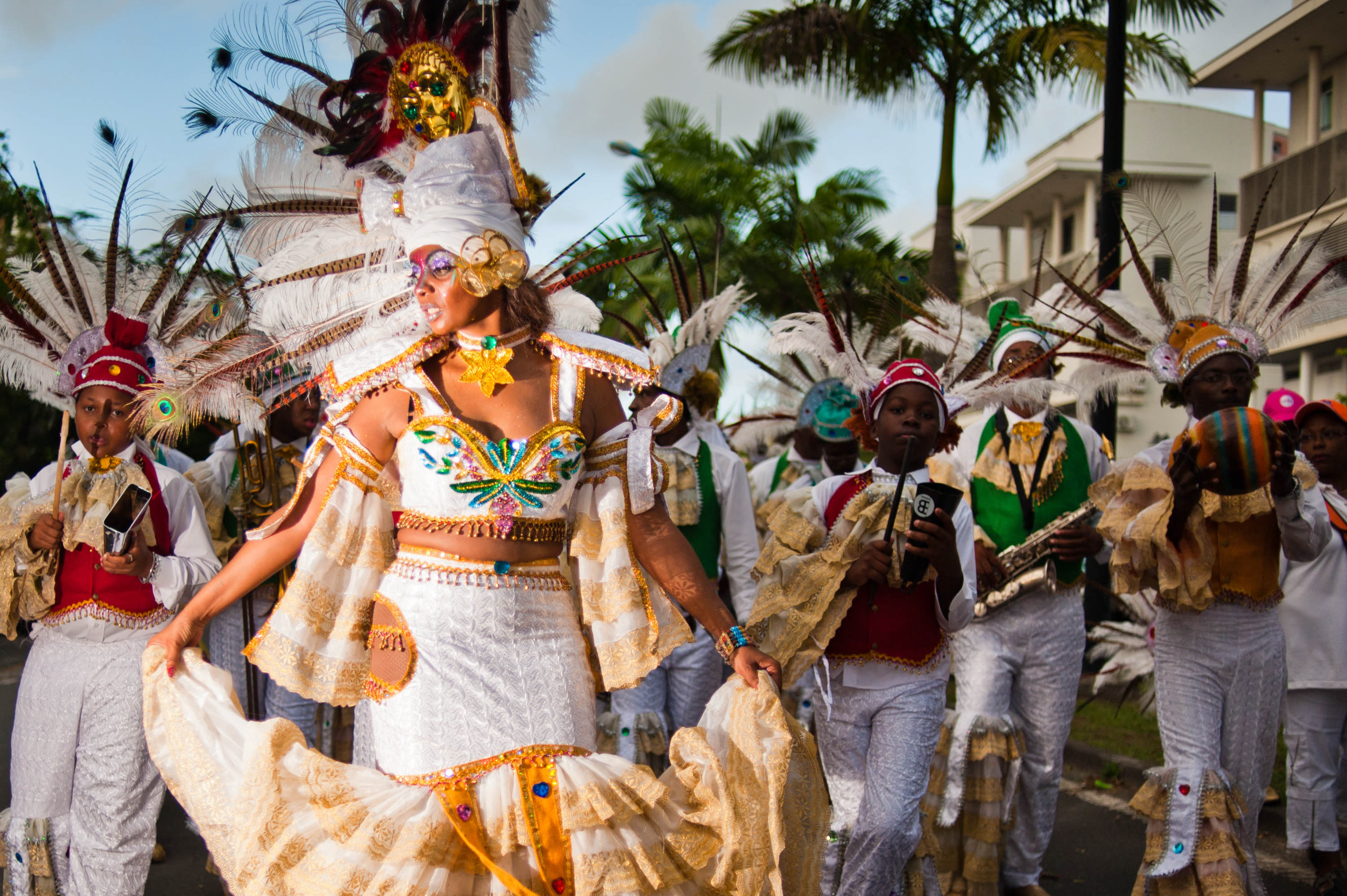 Guadeloupe winter carnival, Pointe-à-Pitre parade, Photograph by Mstyslav Chernov (CC-BY SA 3.0)
