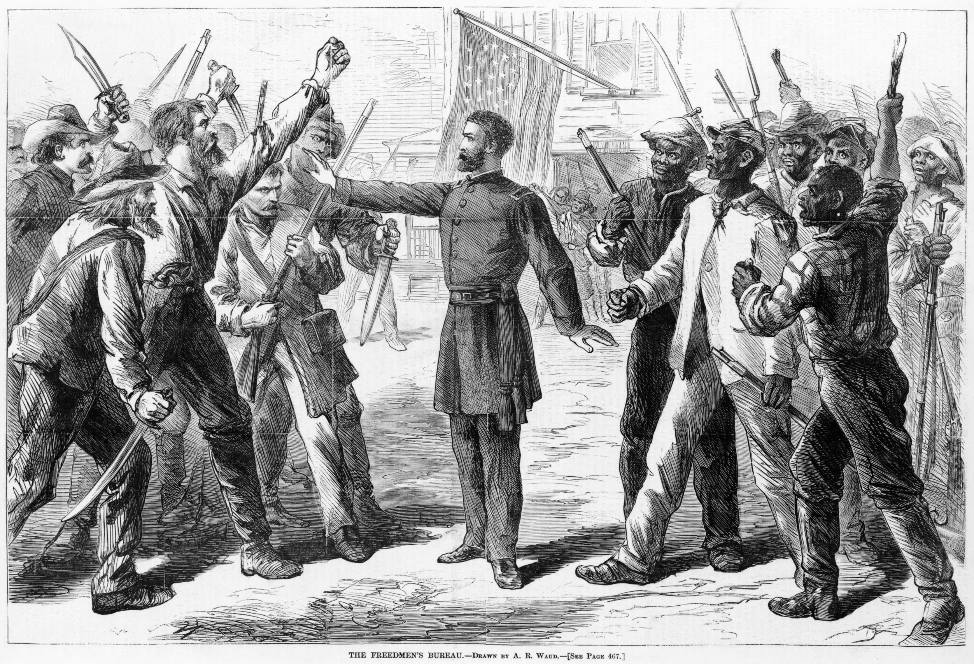 The Freedmen's Bureau, Drawn by A.R. Waud, Harper's Weekly, 25 July 1868
