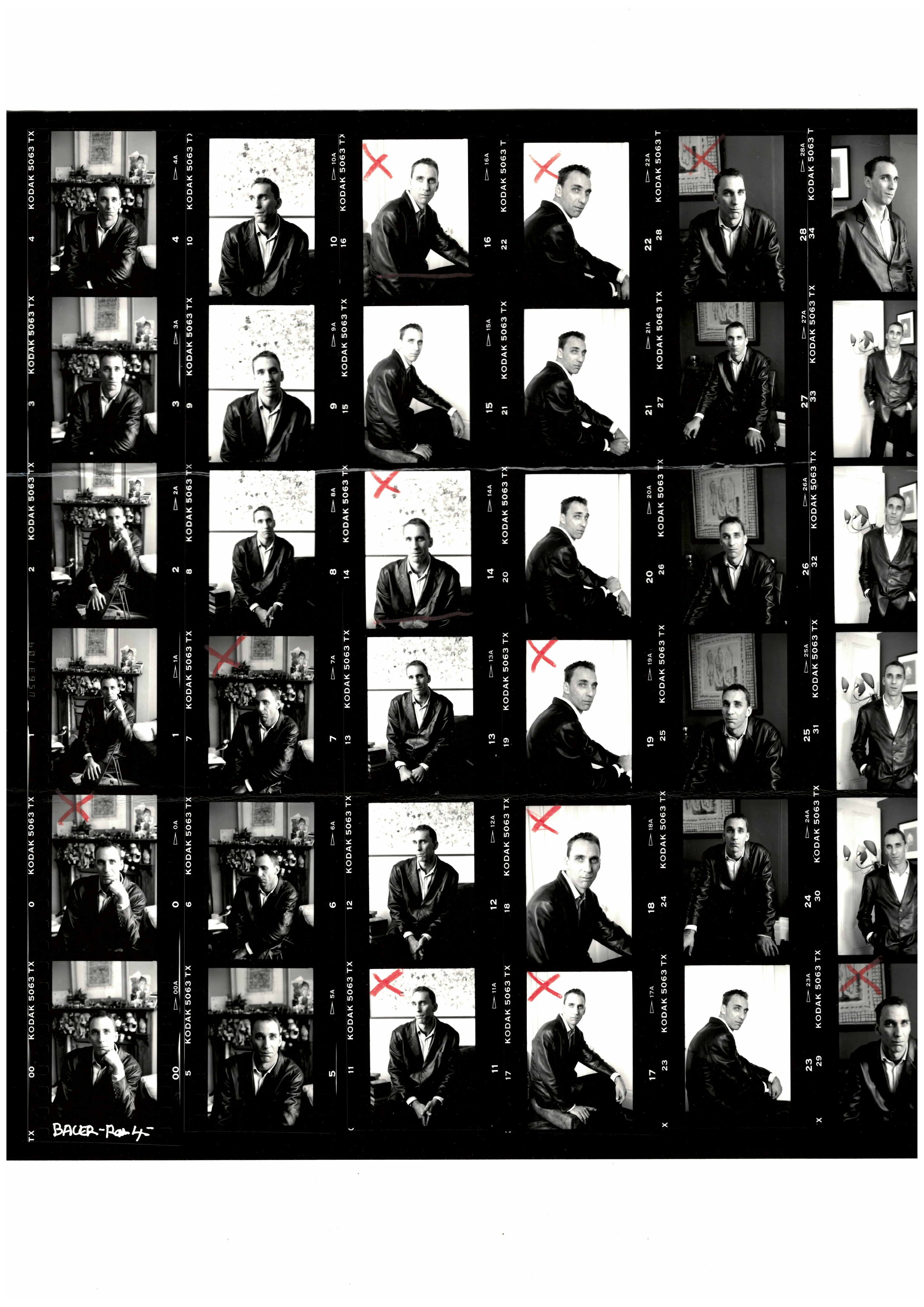 Will Self contact sheet 1999 courtesy Jerry Bauer
