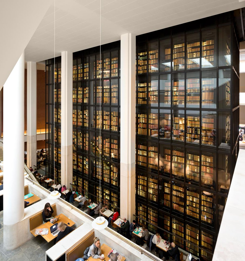 The King's Library, the British Library at St Pancras
