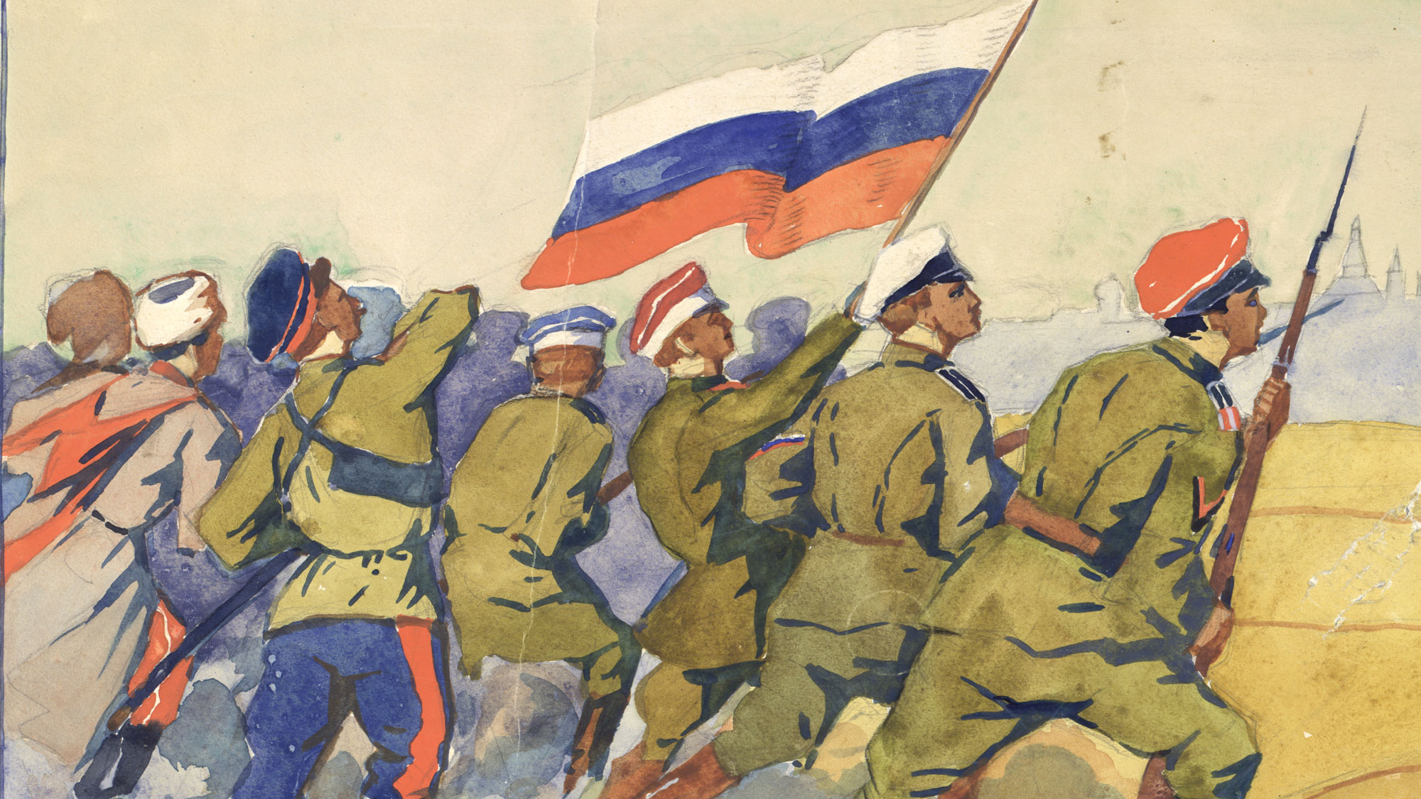 Russomania. On to Moscow, c.1919.