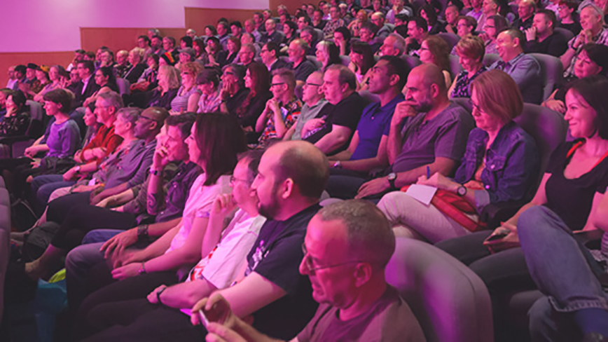 Audience at a British Library event