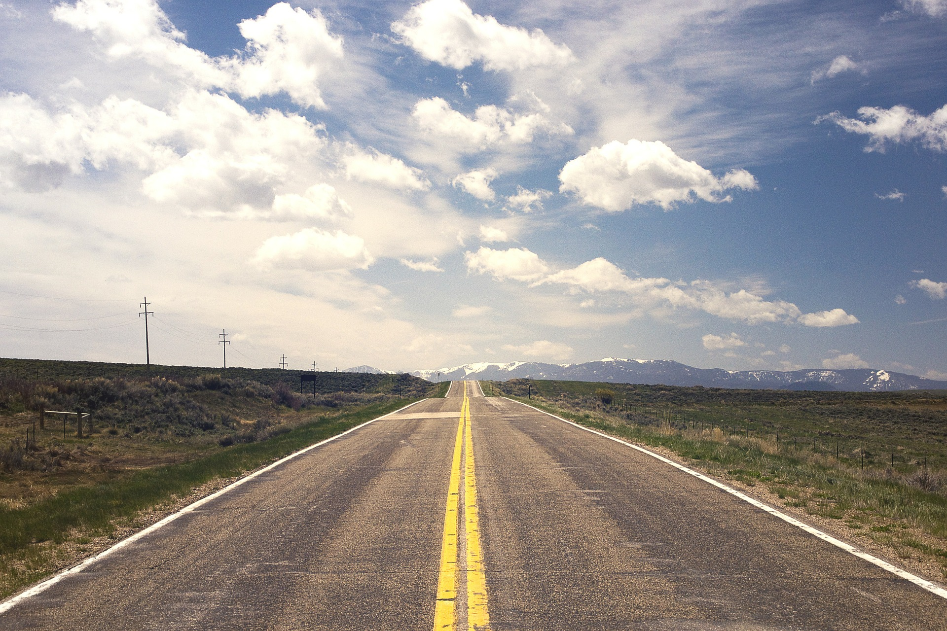 Vanishing point road