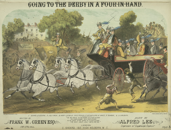 'Going to the Derby in a Four-in-Hand' promotional poster