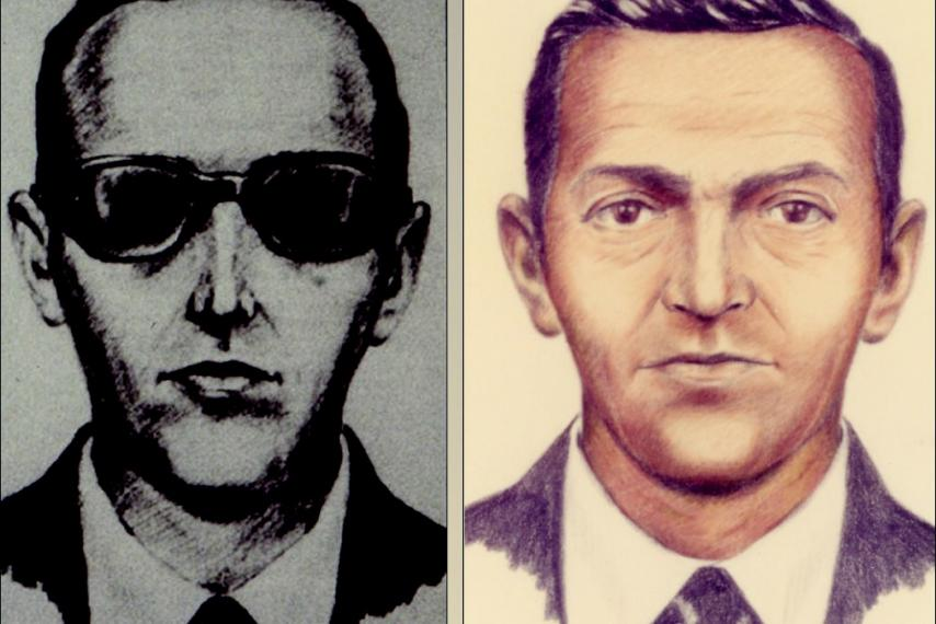 FBI artist rendering of so-called D.B. Cooper, who hijacked Northwest Orient Flight 305