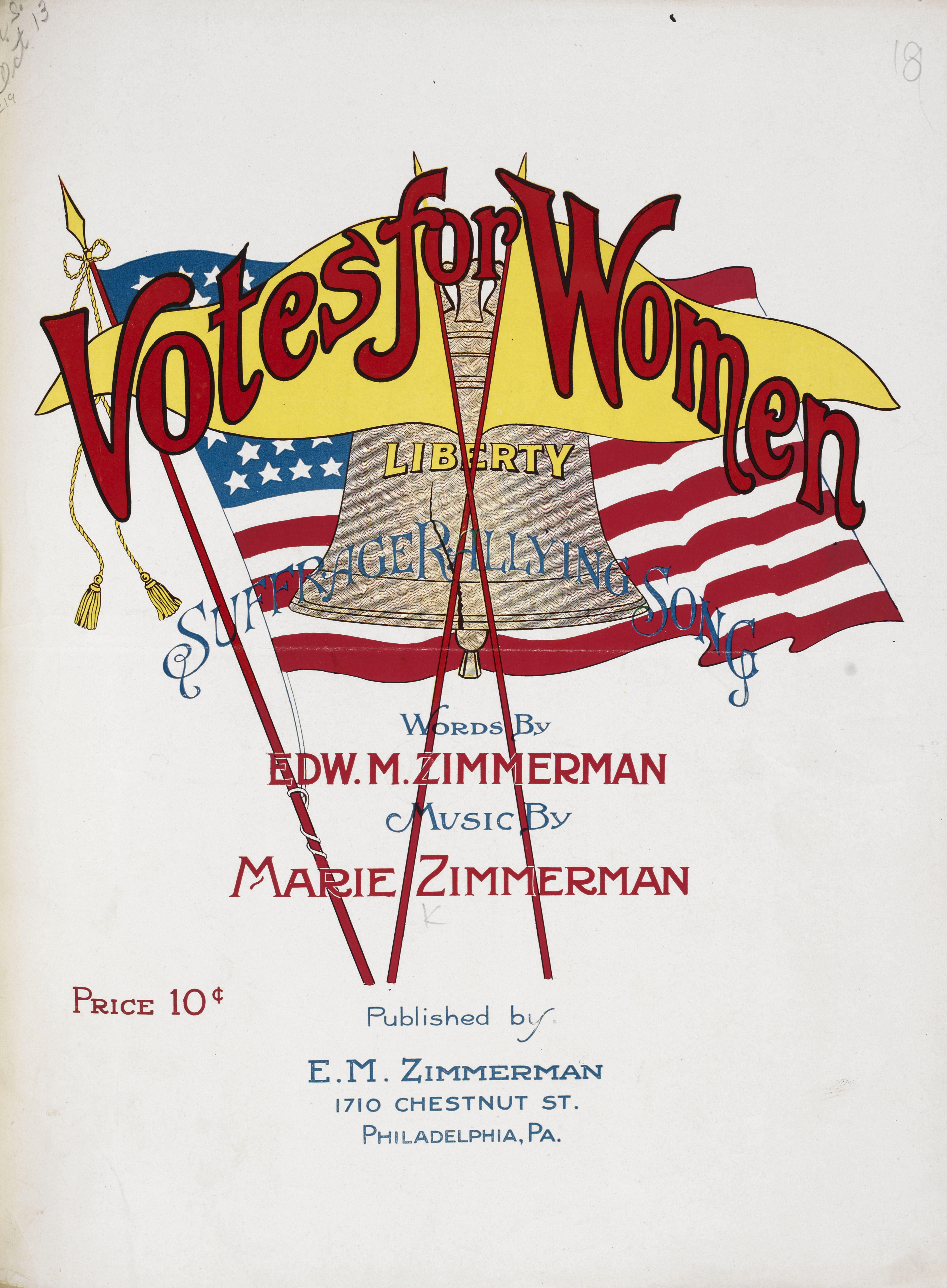 'Votes for Women' sheet music