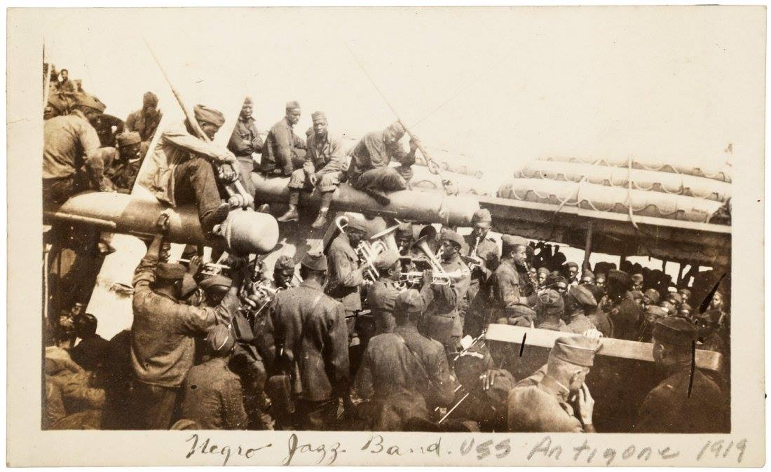 Band on USS Antigone